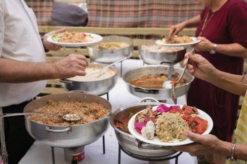 הגשה מבופה - המטבח של האחיות ונורה - חוויה קולינרית מהמטבח הדרוזי